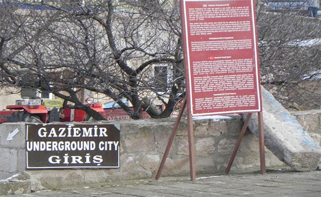 gaziemir yeraltı şehri giriş