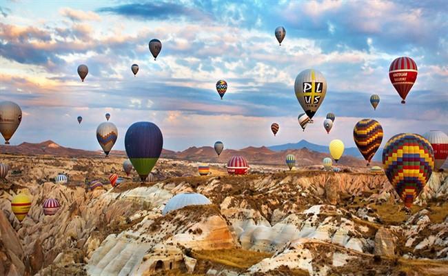 kapadokya balon manzarası