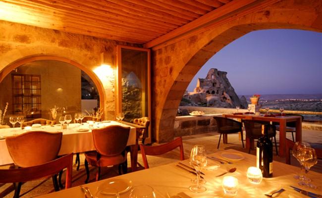 kapadokya manzaralı restoran