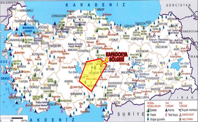 kapadokya harita