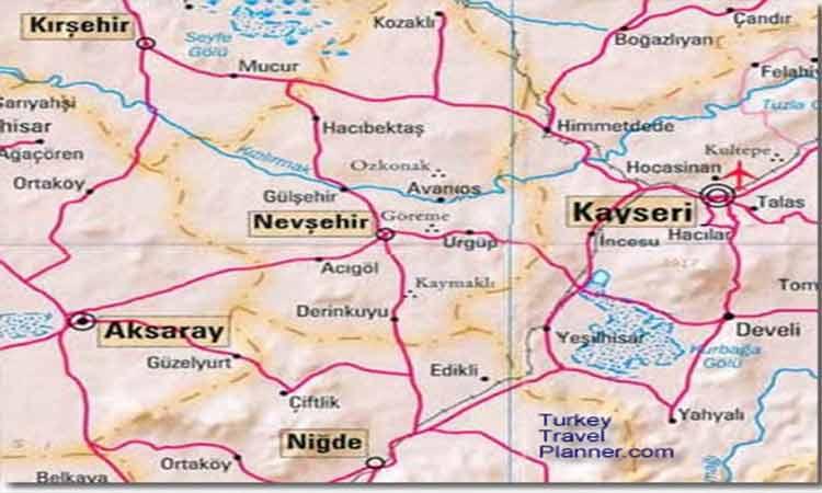 kapadokya haritası 2