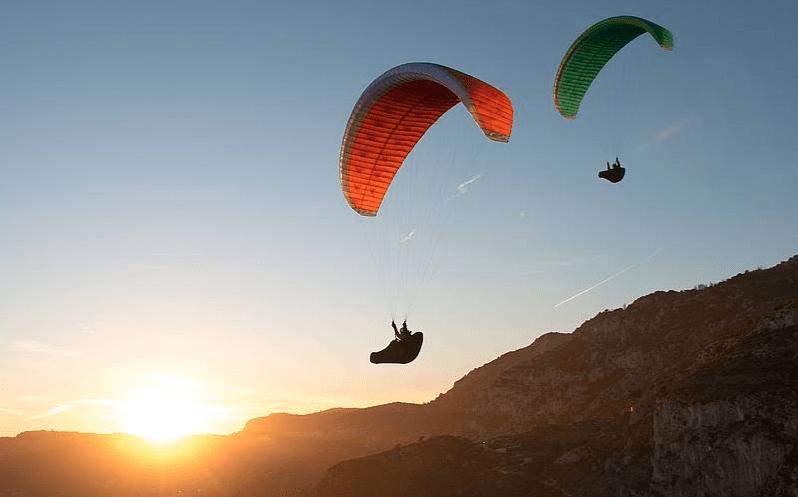 paragliding ve yamaç paraşütü